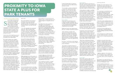 Proximity to Iowa State a Plus for Park Tenants